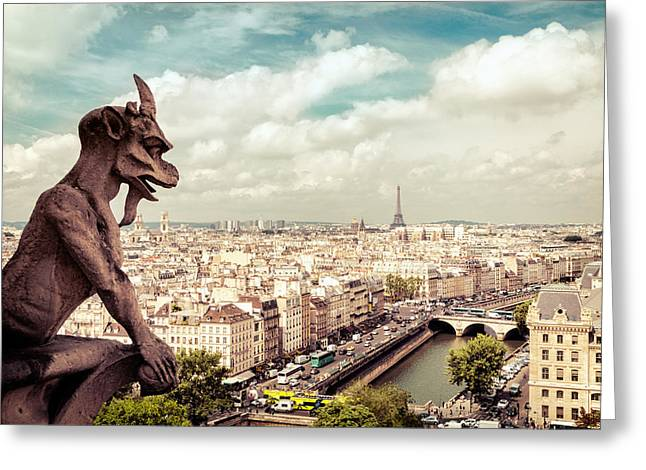 European Cities Greeting Cards - Paris - The City from Above Greeting Card by Vivienne Gucwa