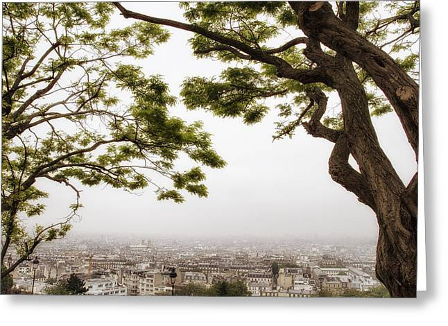 Comtemporary Art Greeting Cards - Paris Through the Springtime Trees Greeting Card by Nomad Art And  Design
