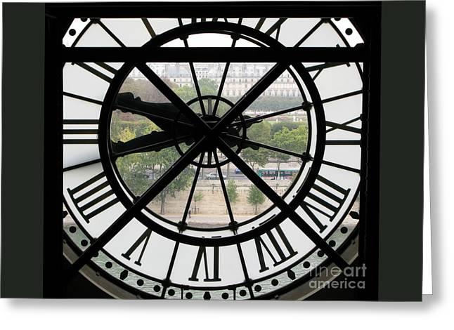 Paris Time Greeting Card by Ann Horn