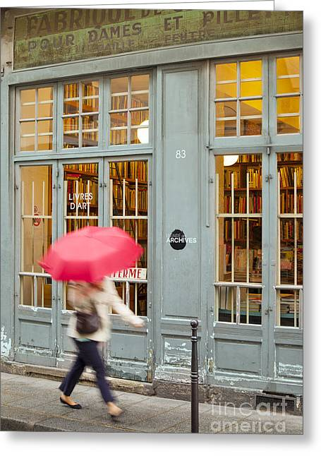Art Book Greeting Cards - Paris Umbrella Greeting Card by Brian Jannsen