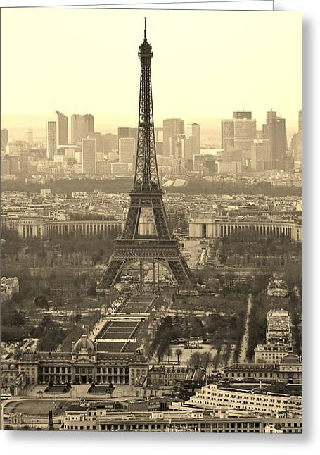 21st Greeting Cards - Paris Vista Greeting Card by David Broome
