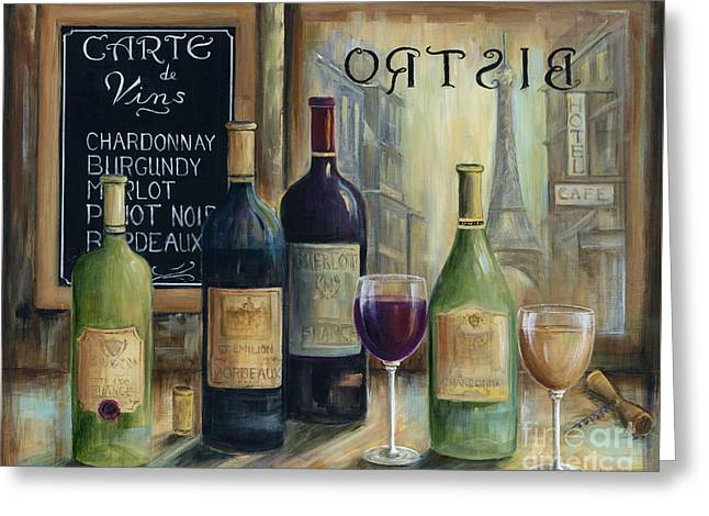 Paris Wine Tasting Greeting Card by Marilyn Dunlap