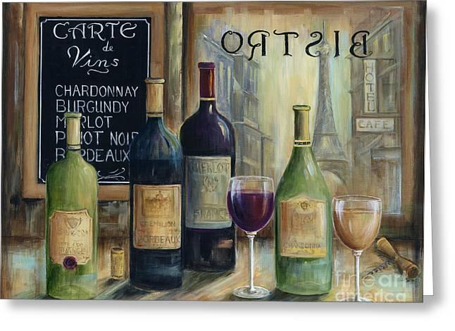 Paris Wine Tasting Greeting Card by Marilyn Dunlap