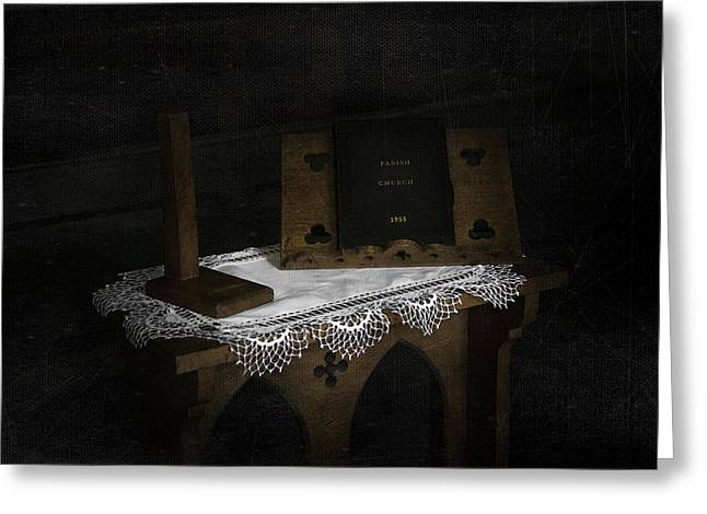 Stood Mixed Media Greeting Cards - Parish Church Book Greeting Card by Svetlana Sewell