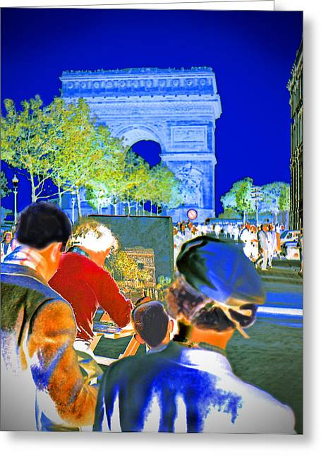 Champs Elysees Greeting Cards - Parisian Artist Greeting Card by Chuck Staley