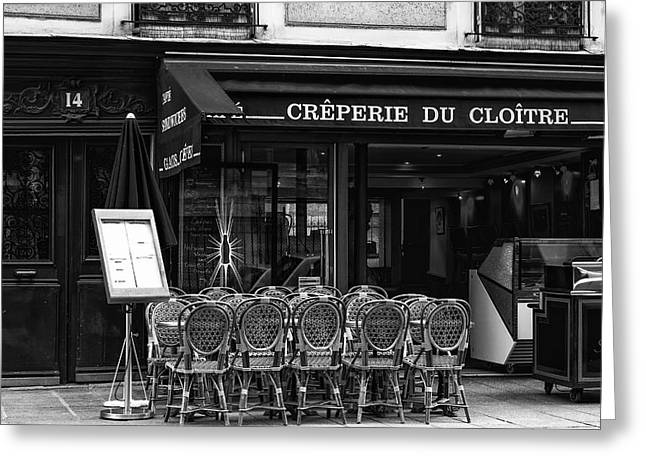 Pause Greeting Cards - Parisian Creperie Greeting Card by Nomad Art And  Design
