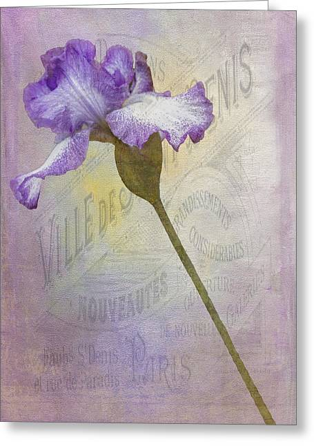 French Open Digital Greeting Cards - Parisian Purple Greeting Card by Chanin Green