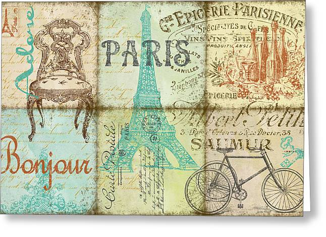 Parisienne Greeting Cards - Parisienne Greeting Card by Jean Plout