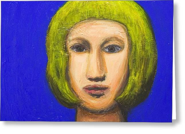Parisienne with a bob haircut Greeting Card by Kazuya Akimoto