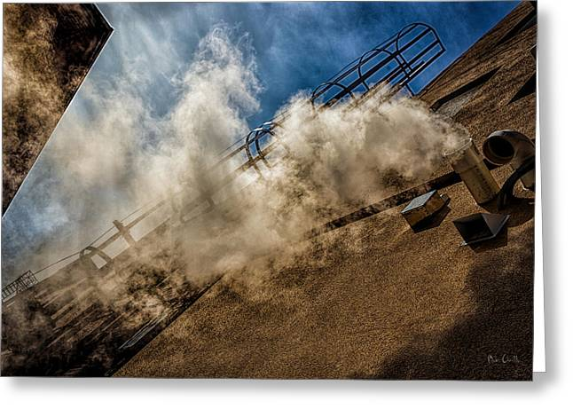 Decorative Art Greeting Cards - Park Alley Steam Greeting Card by Bob Orsillo