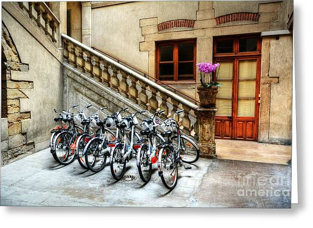 Wooden Stairs Greeting Cards - Park And Ride 2 Greeting Card by Mel Steinhauer