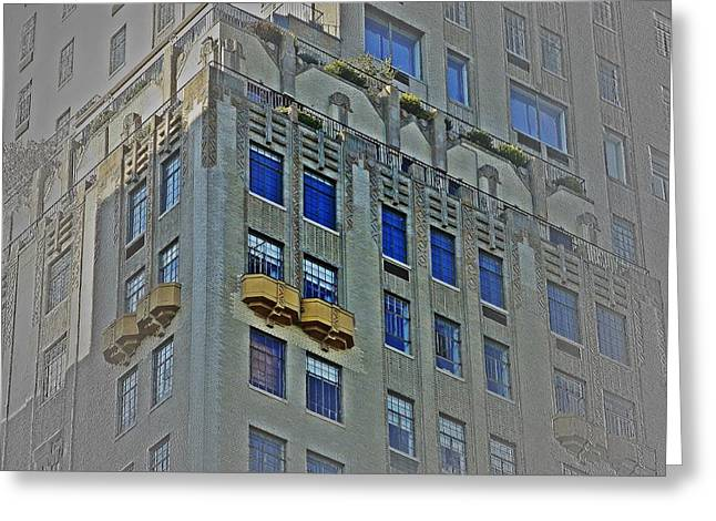 5th Ave Greeting Cards - Park Ave Penthouse Greeting Card by Frank Garciarubio