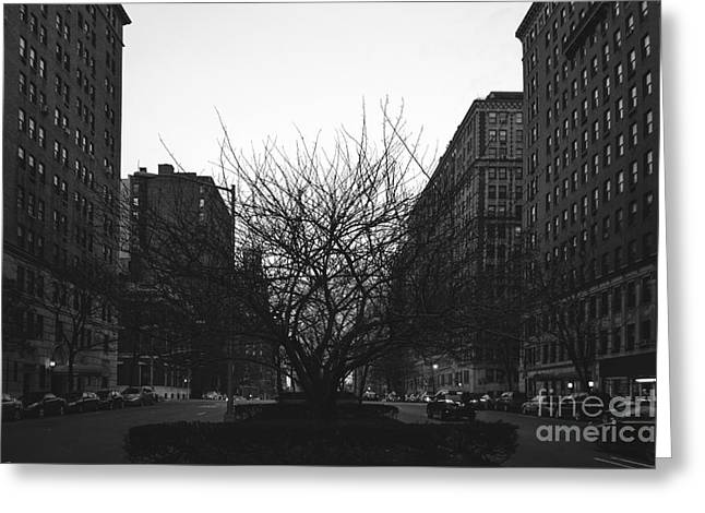 Chelsea Greeting Cards - Park Avenue Greeting Card by Art K