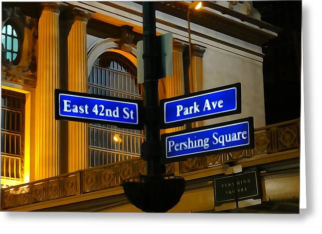 Pershing Greeting Cards - Park Avenue Greeting Card by Dan Sproul