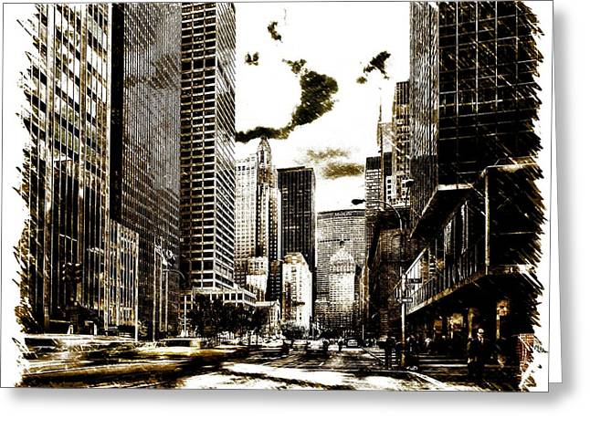 Storefront Digital Greeting Cards - Park Avenue Greeting Card by Mountain Dreams