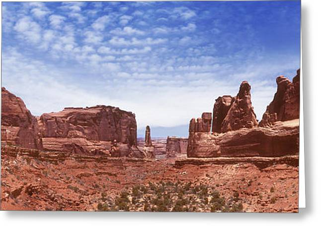 Arches National Park Greeting Cards - Park Avenue - Utah Greeting Card by Mike McGlothlen