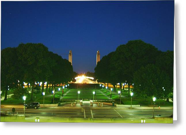 Reserve Greeting Cards - Park beahind the state capiral Harrisburg pa Greeting Card by Rob Luzier