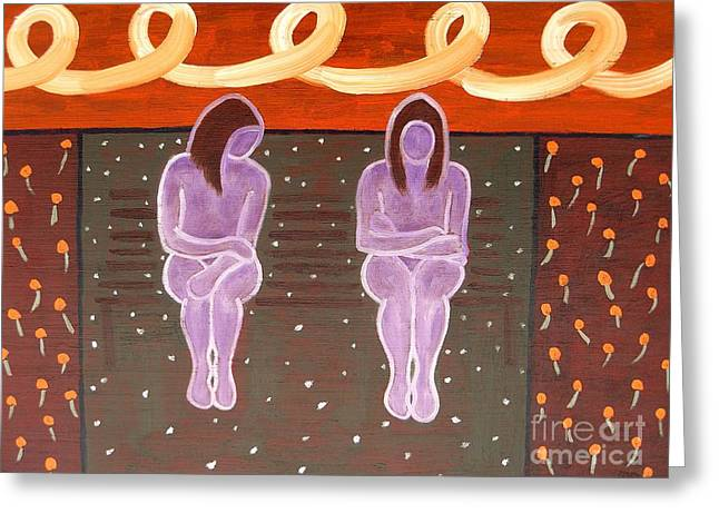 Outdooes Greeting Cards - Park Bench Greeting Card by Patrick J Murphy