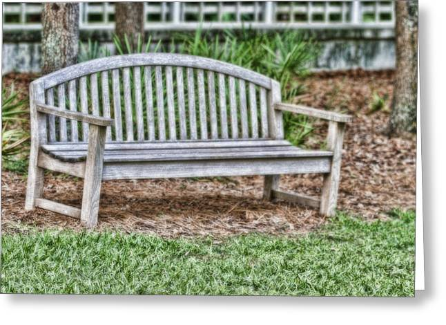 Quite Greeting Cards - Park Bench Greeting Card by Scott Pellegrin