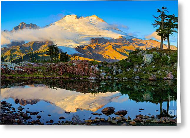 Summit Greeting Cards - Park Butte Panorama Greeting Card by Inge Johnsson