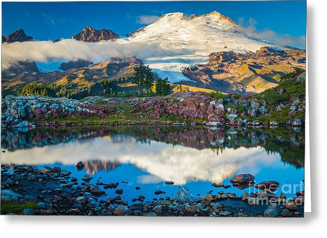 Mt Greeting Cards - Park Butte Tarn Greeting Card by Inge Johnsson