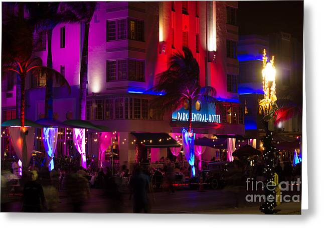 Mango Greeting Cards - Park Central Hotel South Beach Greeting Card by Rene Triay Photography