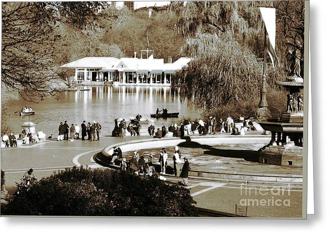 Park Day Greeting Card by John Rizzuto