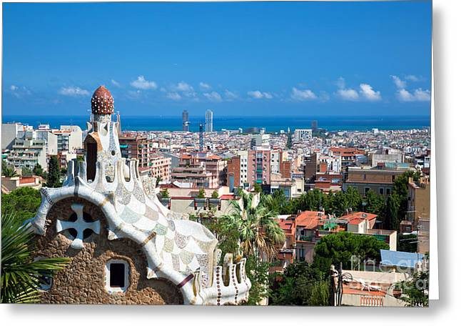 Guell Greeting Cards - Park Guell Barcelona Greeting Card by Michal Bednarek