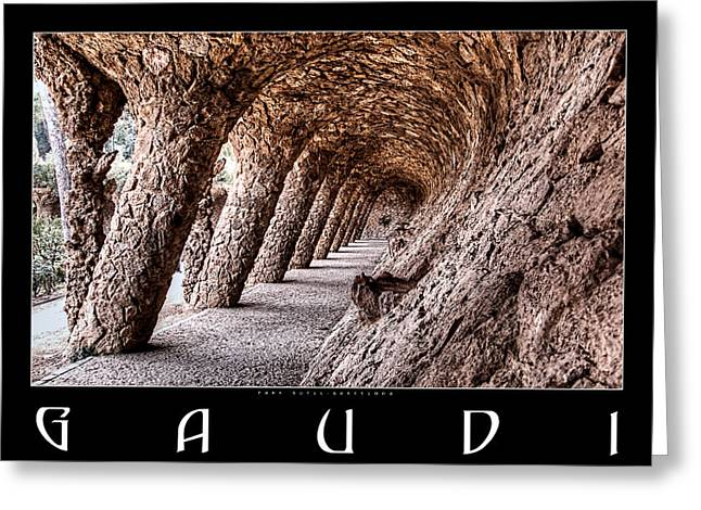 Ultra Modern Greeting Cards - Park Guell Colonnade No2 Greeting Card by Weston Westmoreland