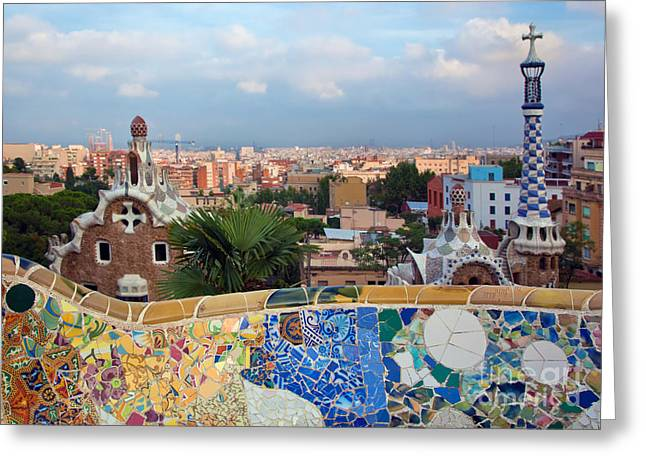 Guell Greeting Cards - Park Guell Greeting Card by Michal Bednarek