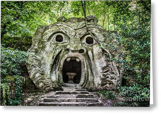 Sacred Grove Greeting Cards - Park of the Monsters Greeting Card by JR Photography