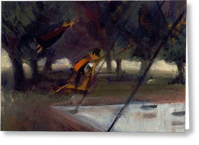 Park Swings Greeting Card by Ted Reynolds