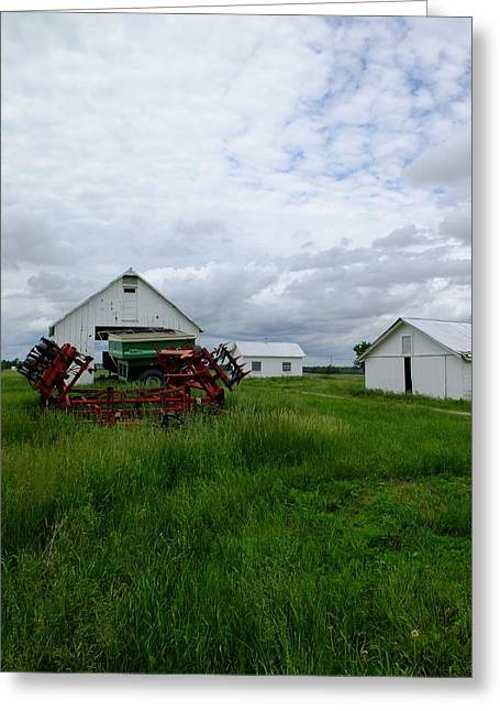 Rural Indiana Greeting Cards - Parked for the Day Greeting Card by Scott Kingery