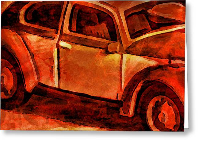 Digital Watercolors Greeting Cards - Parked Greeting Card by Jeff  Gettis