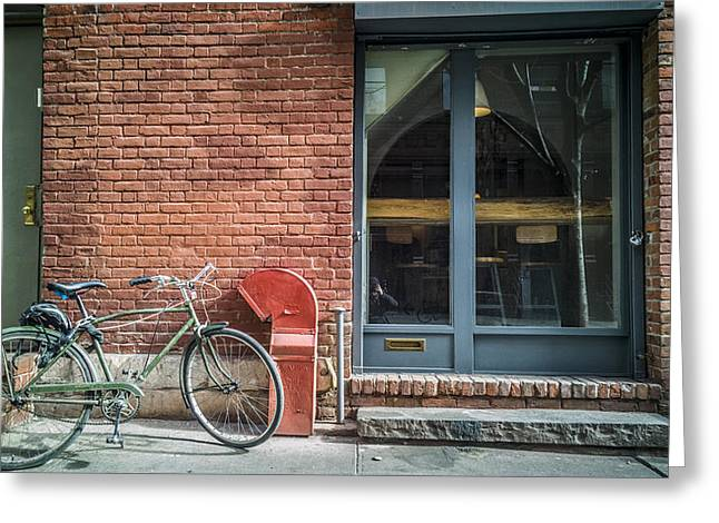 Soho Greeting Cards - Parked Greeting Card by Johnny Lam