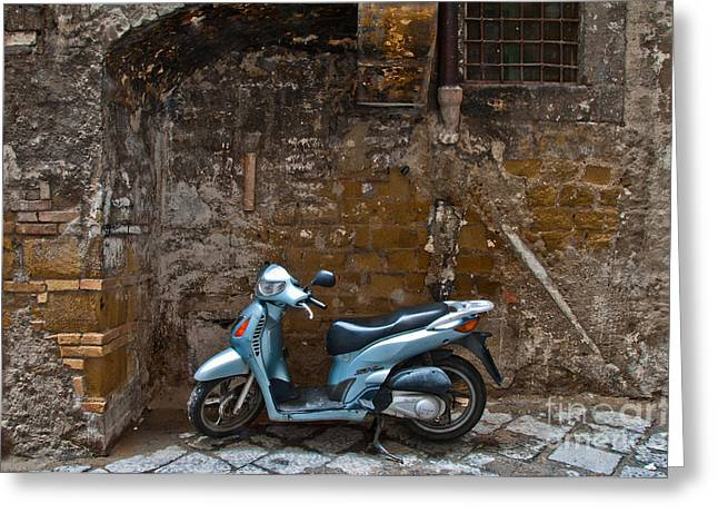 Naples Photographs Greeting Cards - Parked Greeting Card by Marion Galt