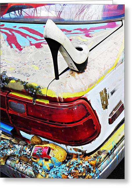 Outsider Photographs Greeting Cards - Parked on a New York Street 3 Greeting Card by Sarah Loft