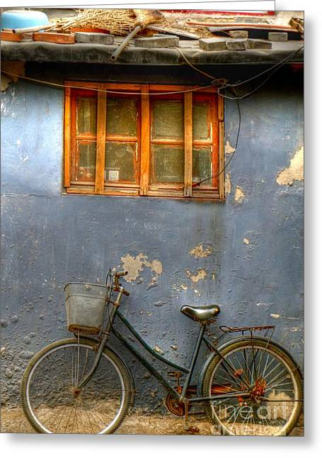 Hutong Greeting Cards - Parked Greeting Card by Shawn Dechant