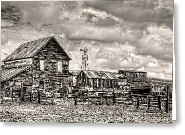 Parker Homestead Greeting Card by Ken Smith