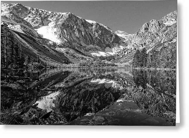 Highway Greeting Cards - Parker Lake Black and White Greeting Card by Scott McGuire