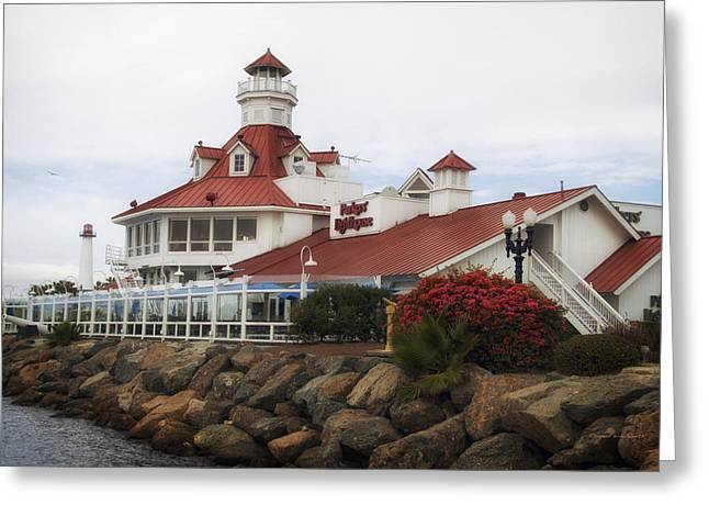 Down Town Los Angeles Greeting Cards - Parkers Lighthouse Restaurant Greeting Card by Thomas Woolworth