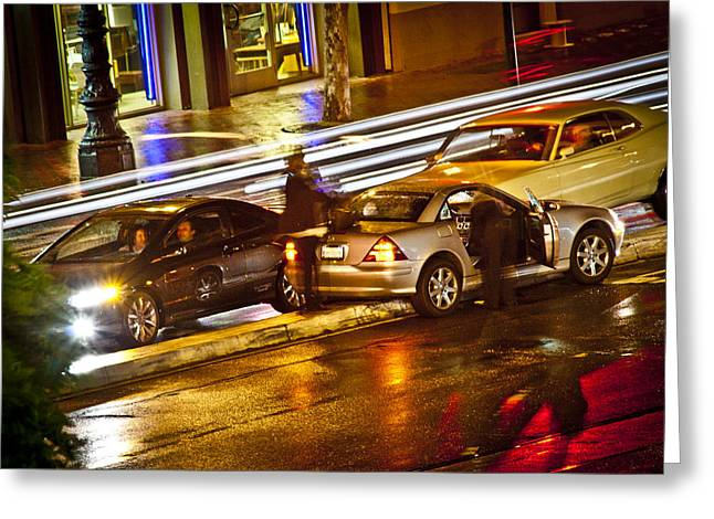 Driving Pyrography Greeting Cards - Parking In San Francisco Greeting Card by Pobby Heglar