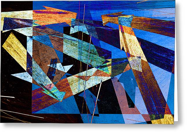 Arrow Abstract Greeting Cards - Parking Lot Pavement Arrows No.12 Greeting Card by Randall Nyhof
