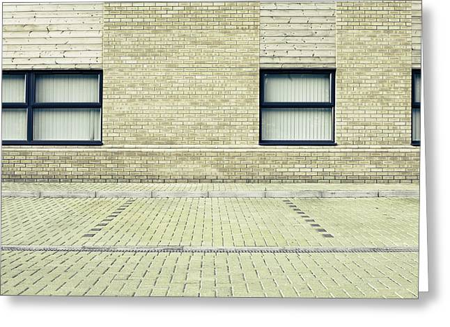 Weekend Photographs Greeting Cards - Parking space Greeting Card by Tom Gowanlock