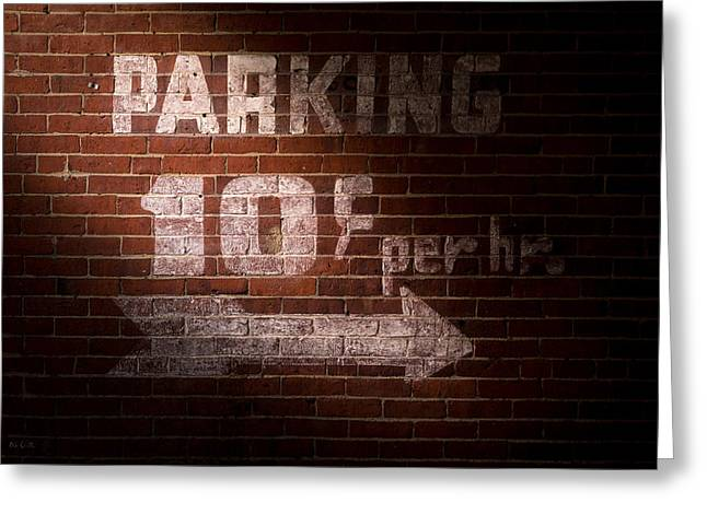 Parking Ten Cents Greeting Card by Bob Orsillo