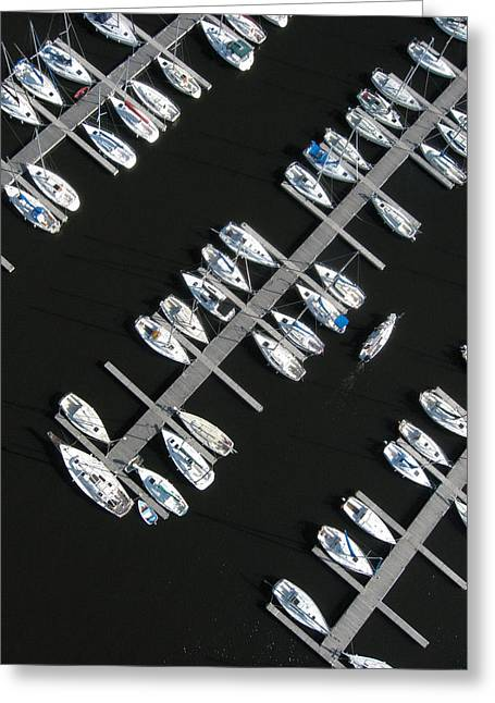 Kite Greeting Cards - Parking Yacht Greeting Card by Rob Huntley