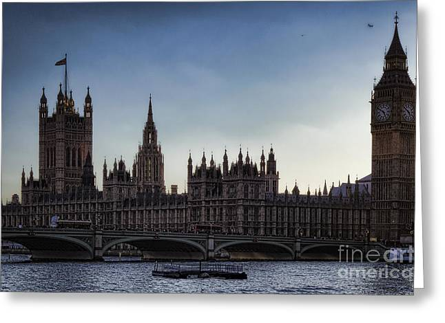 Evening Scenes Greeting Cards - Parliament at the Golden Hour Greeting Card by Joan Carroll