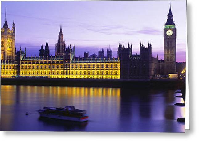 Historic England Greeting Cards - Parliament, Big Ben, London, England Greeting Card by Panoramic Images