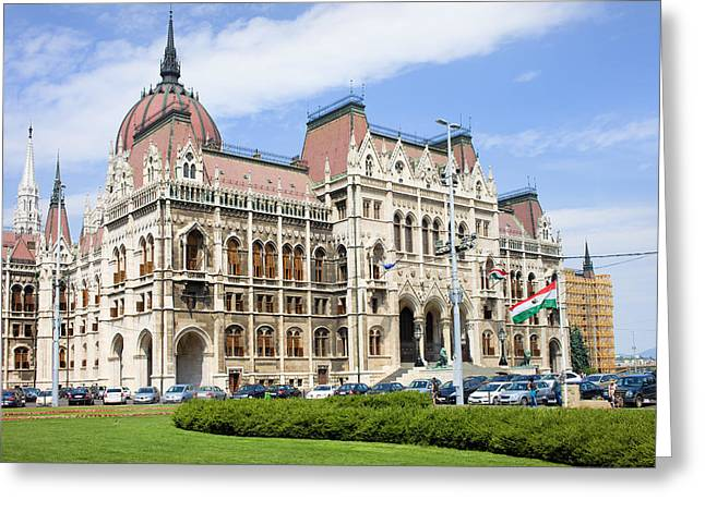 Tourist Site Greeting Cards - Parliament Building in Budapest Greeting Card by Artur Bogacki