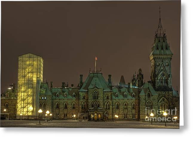 Multiple Exposures Greeting Cards - Parliament Hill Ottawa Greeting Card by Nina Stavlund